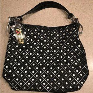 Handbags - Bling Sparkly Rhinestone Weaved Tote Purse Handbag